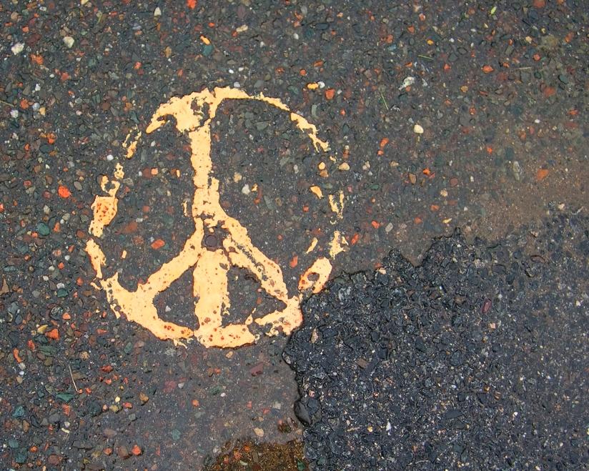 Street Peace Sign Sacramento 2004